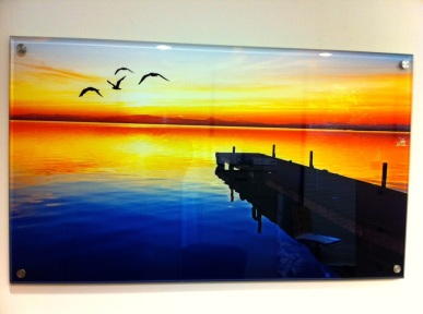 This beautiful image was finished using 1/2 inch acrylic with beveled edges and 1 inch stand-offs.